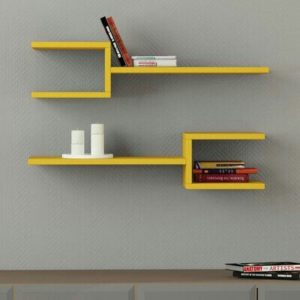 Wall wooden decoration modern shelf for home