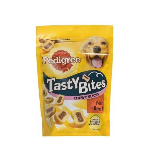 Pedigree Tasty Bites With Beef Dog Food 155 gm