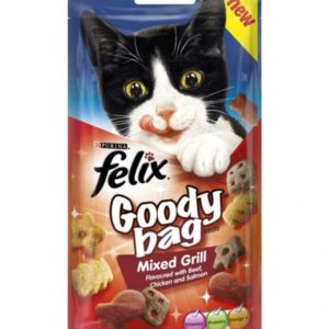 Purina Felix Goody Bag Cat Treats Mixed Grill 60 gm