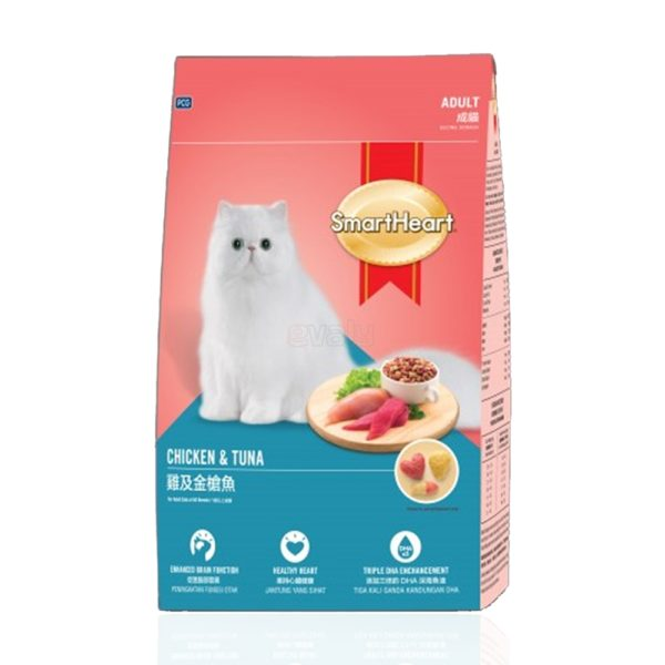 SmartHeart Adult Cat Food Chicken & Tuna 480 gm