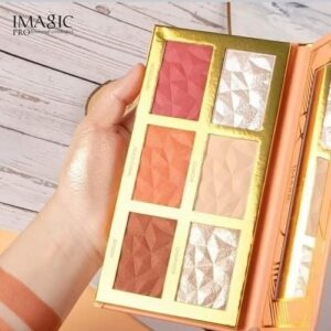 Premium Quality IMAGIC Powder Palette Shimmer Face Contour Highlight Blush