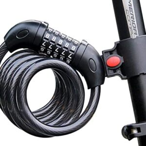 Bicycle lock anti-theft password lock security lock steel cable lock mountain bike road bike accessories