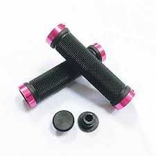 MOUNTAIN BIKE HANDLEBAR GRIPS ANTI-SLIP RUBBER BICYCLE GRIPS WITH DOUBLE ALUMINUM ALLOY LOCK FOR BMX MOUNTAIN ROAD URBAN FOLDABLE BIKE