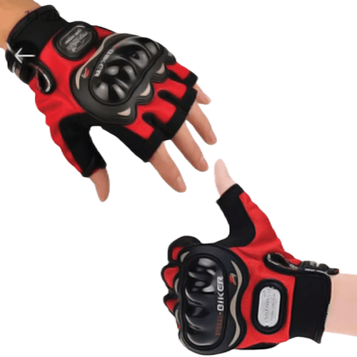PRO BIKER HALF FINGERED HAND GLOVES RIDING GLOVES-MULTICOLOR CYCLE & BIKE